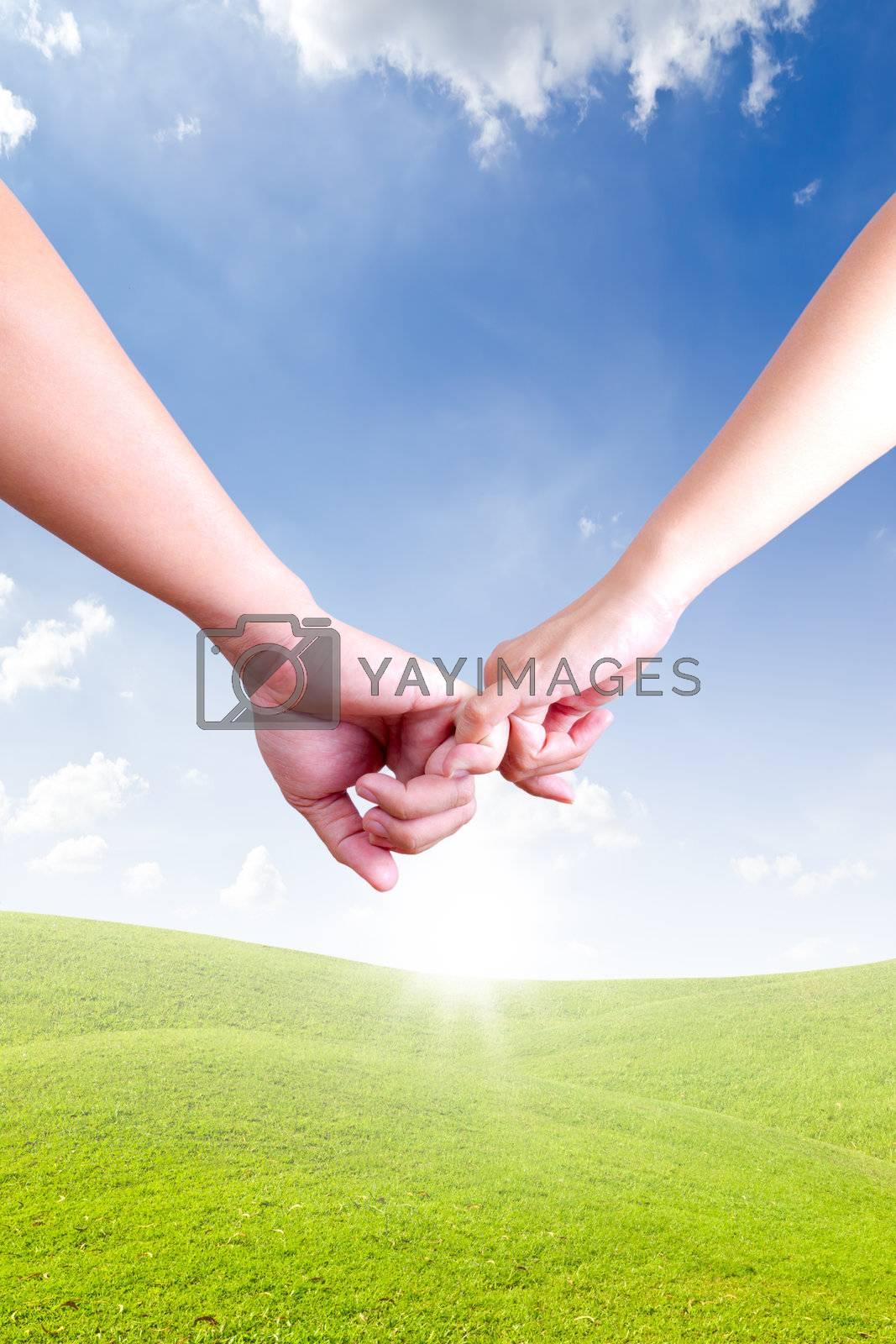 hands linking fingers