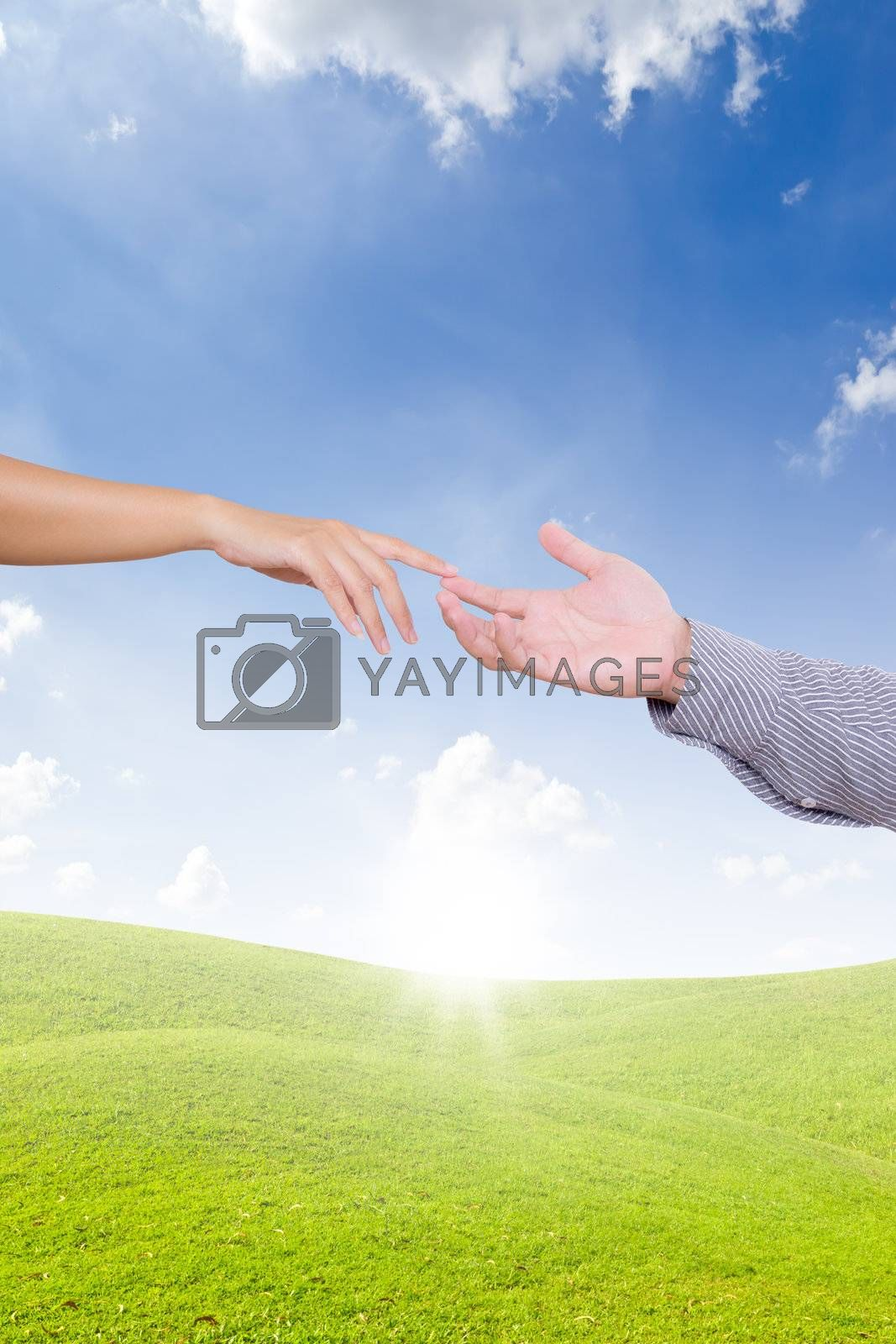 hands touching fingers