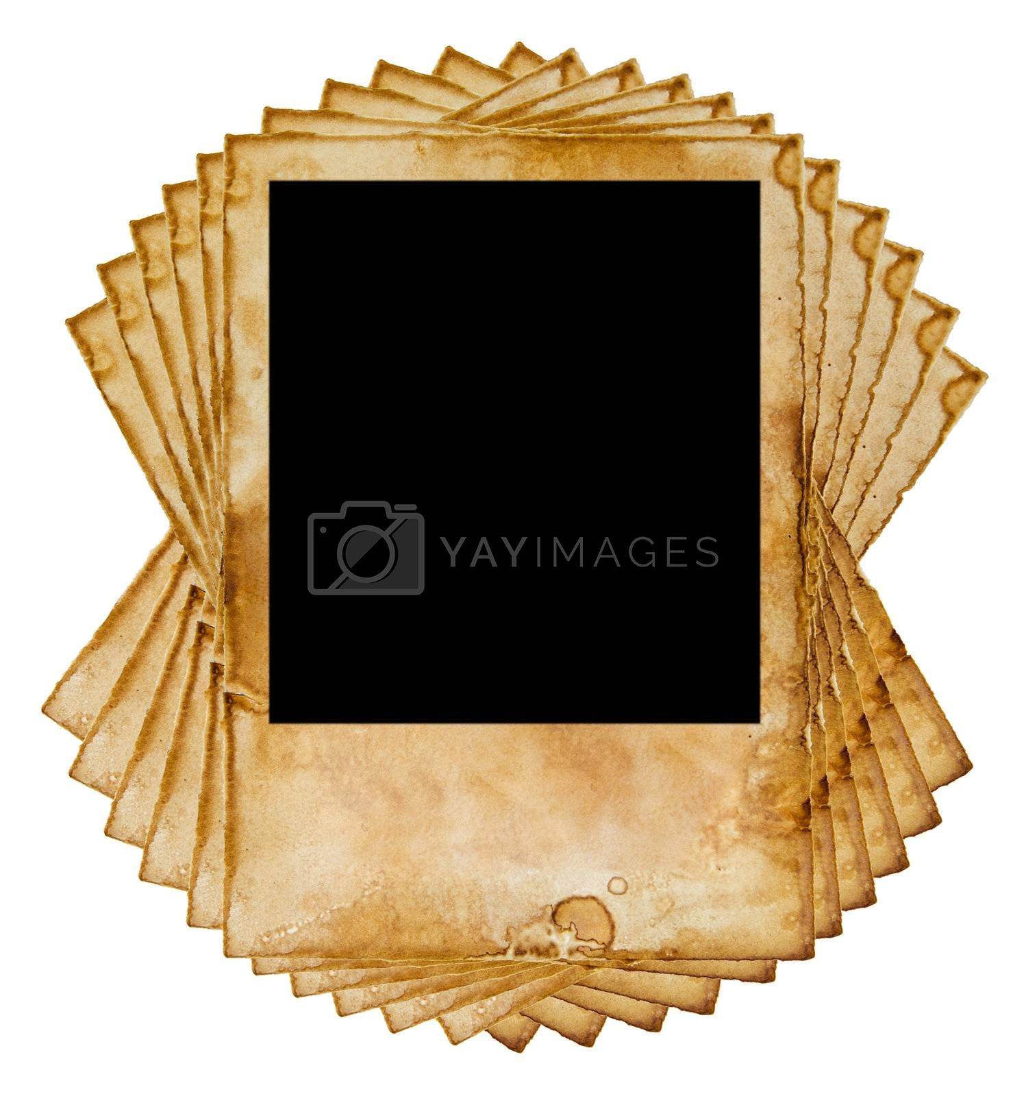 old vintage paper isolated on white background