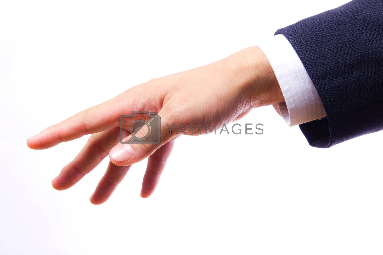 hand of business man isolated