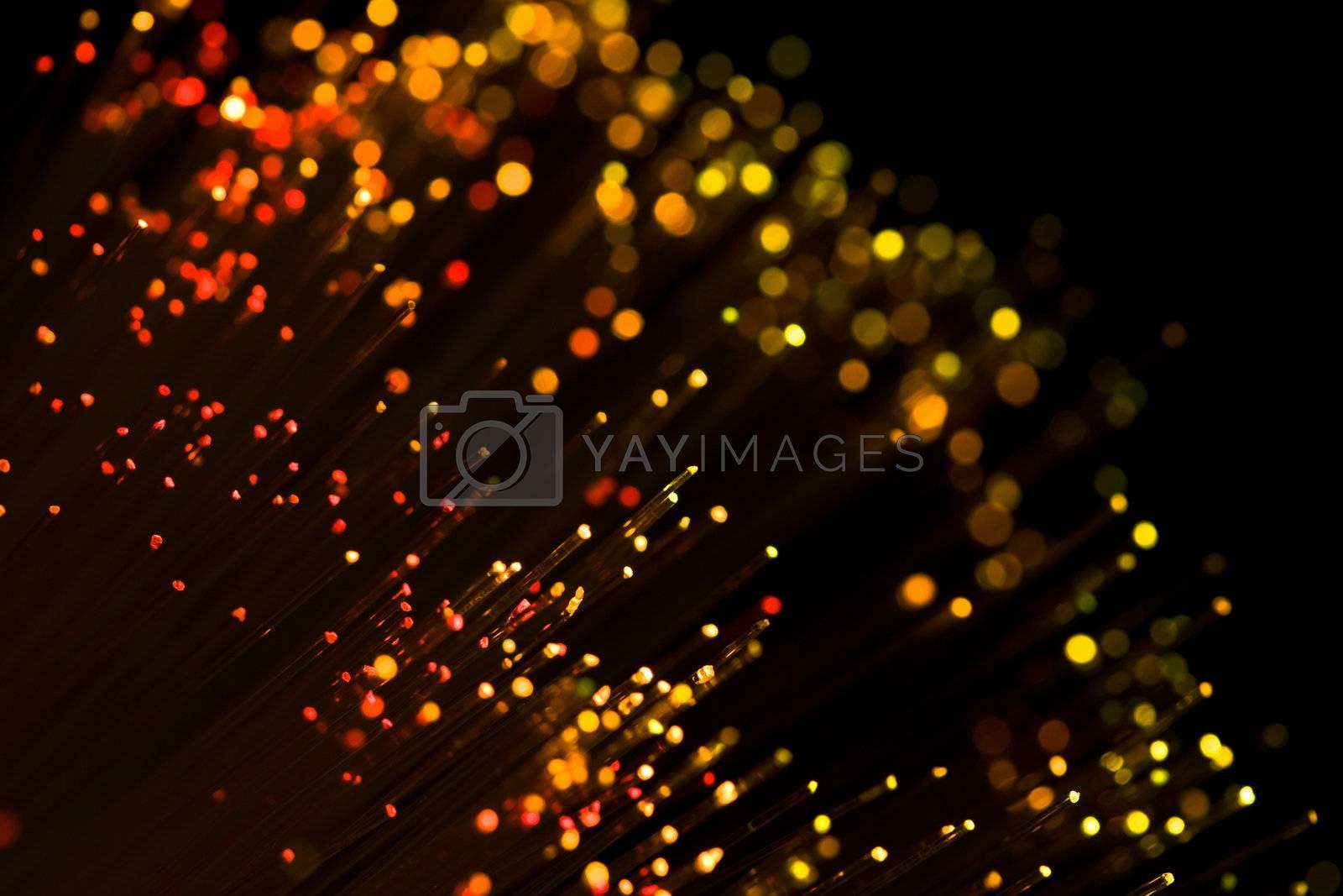 red shining fiber optic