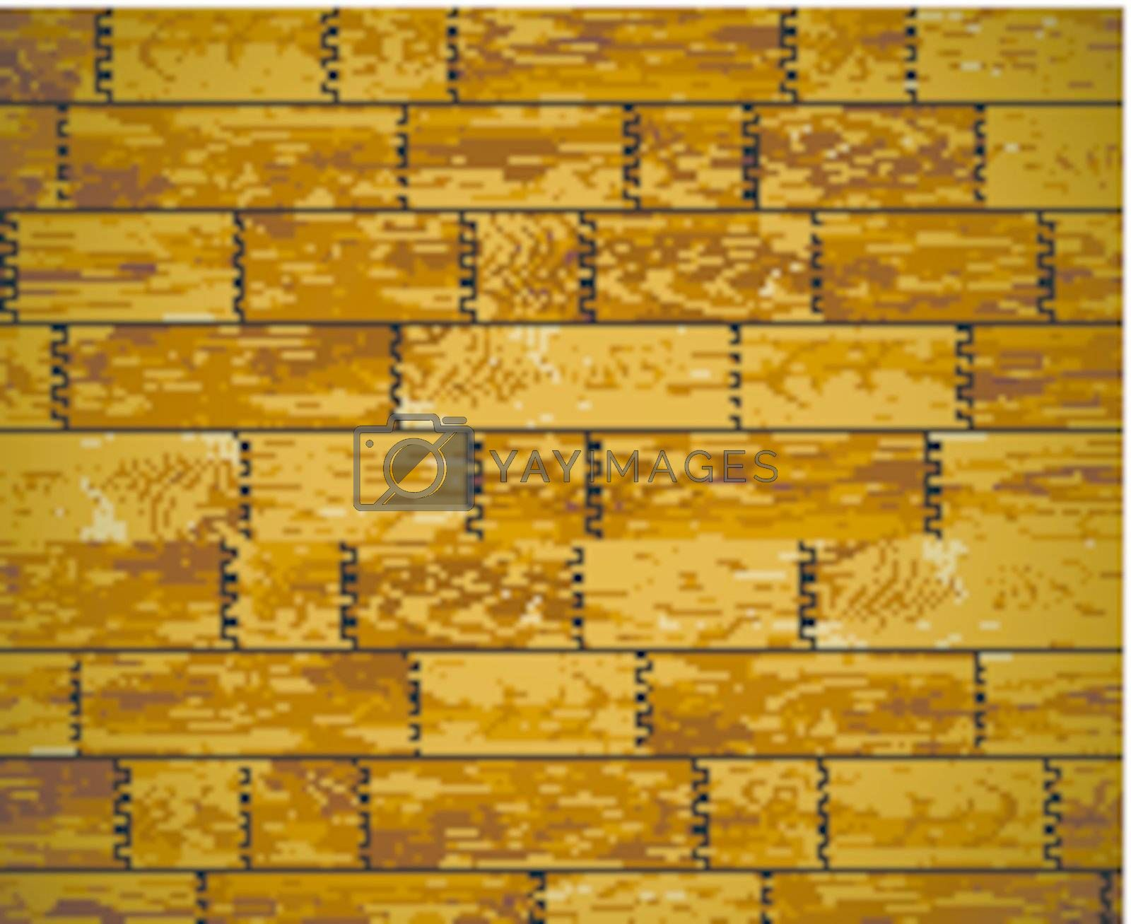 The wall, covered with wooden planks - vector background