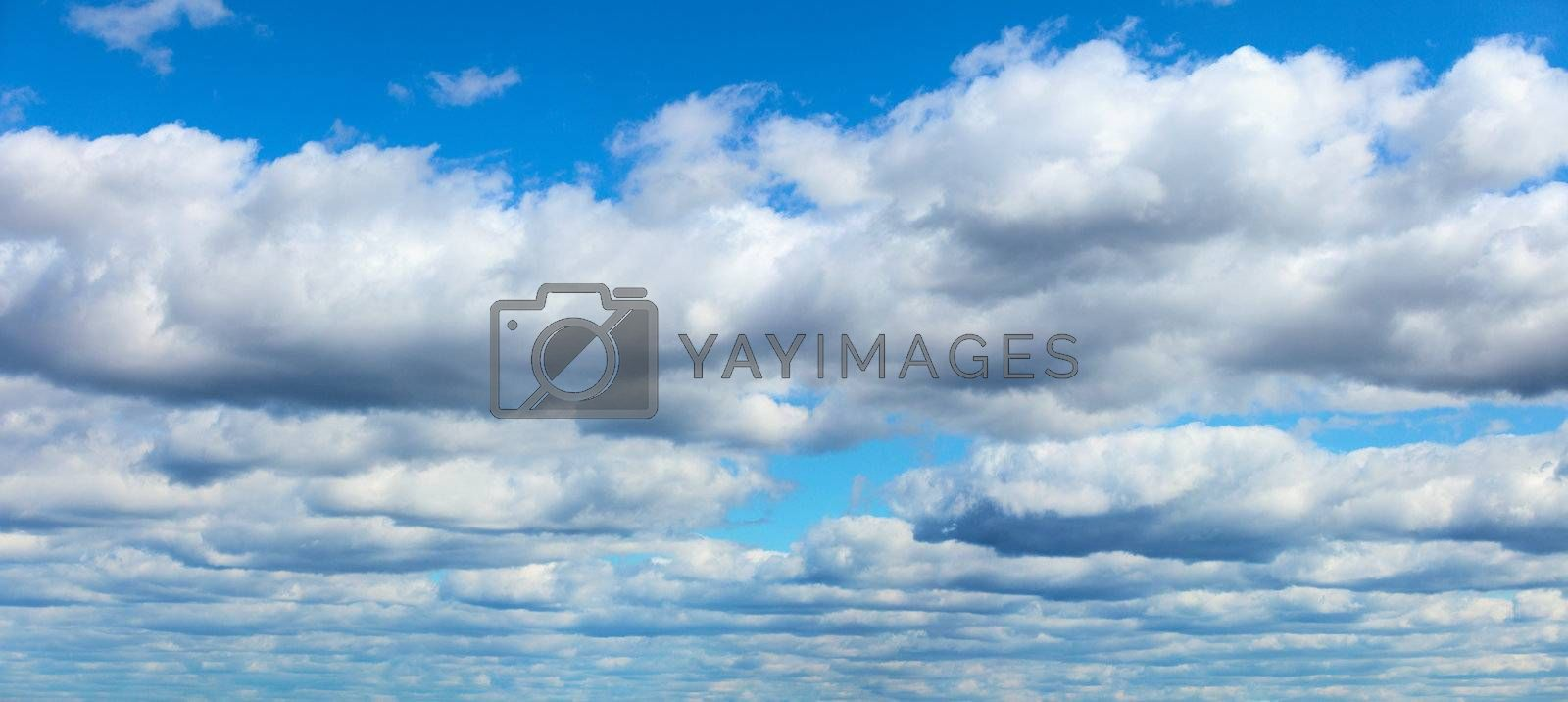 Blue sky with clouds - panoramic background
