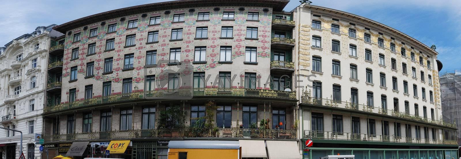 beautiful row houses decorated vienna panorama vienna Austria
