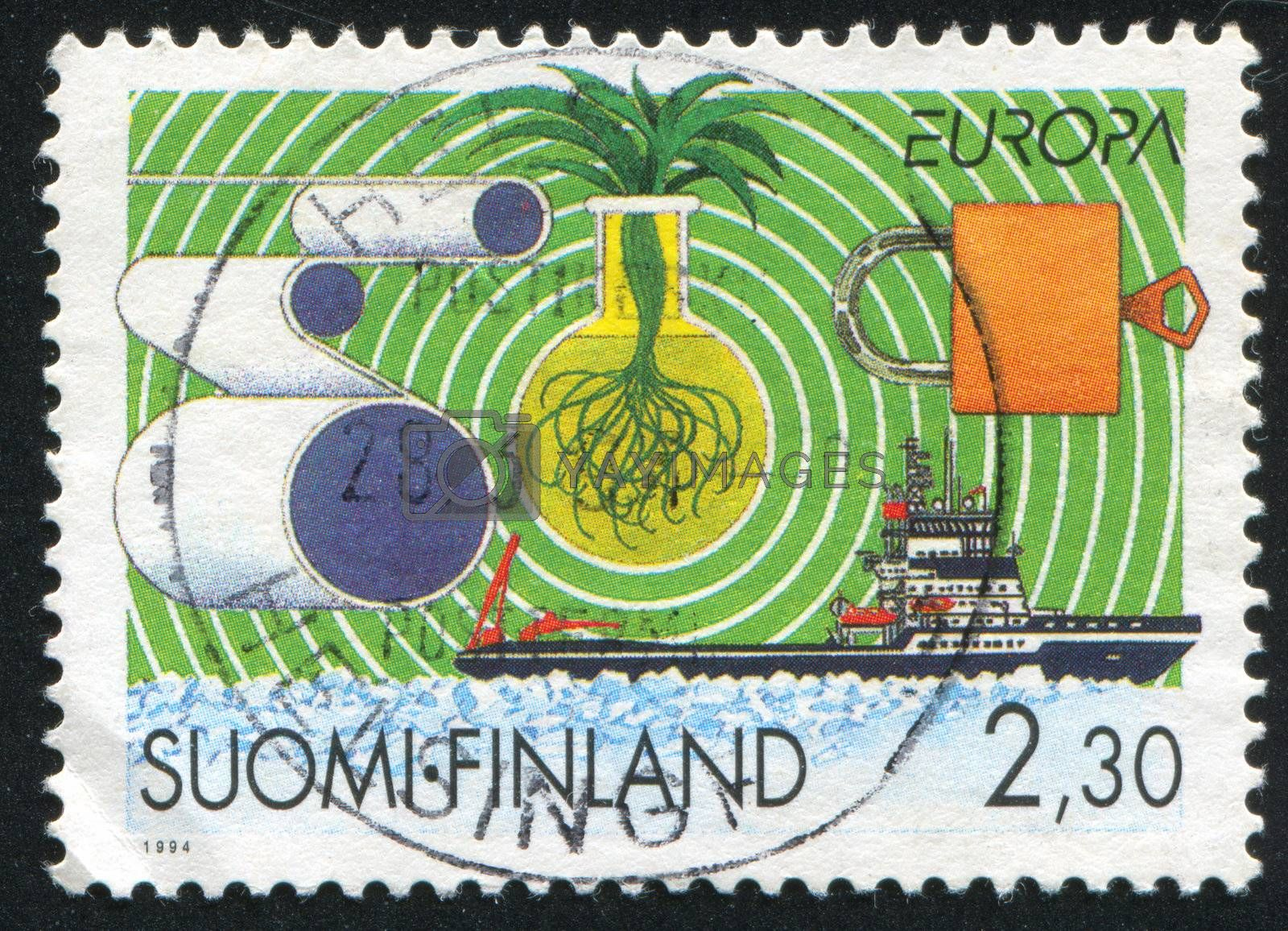 FINLAND - CIRCA 1994: stamp printed by Finland, shows Finnish Technology, circa 1994