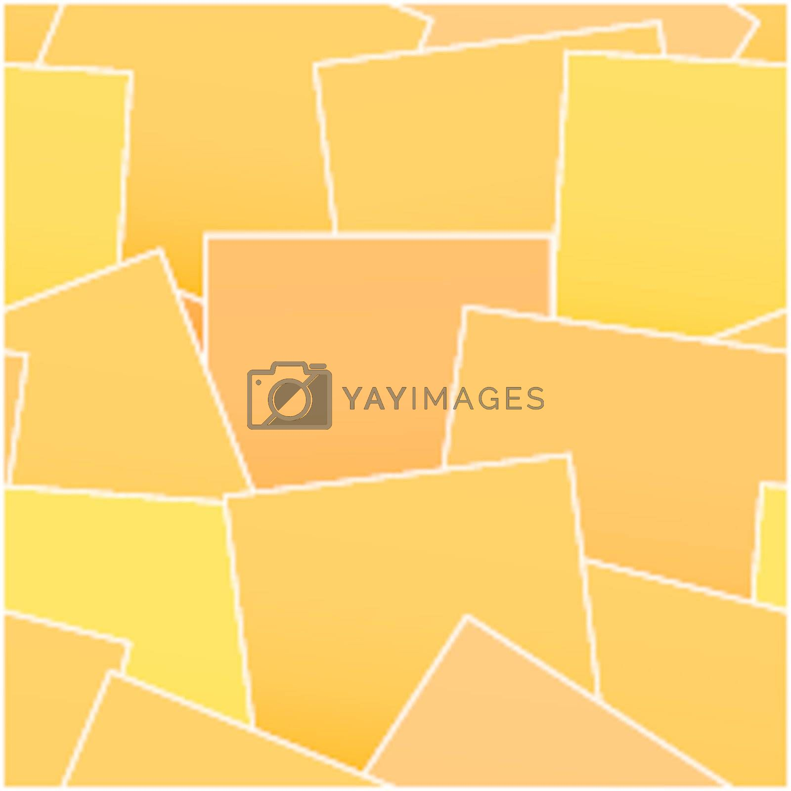 Background from orange stickers - vector seamless pattern