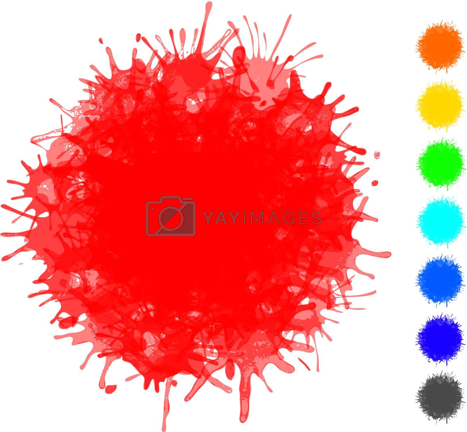 Blots of various colors - vector set of elements for design