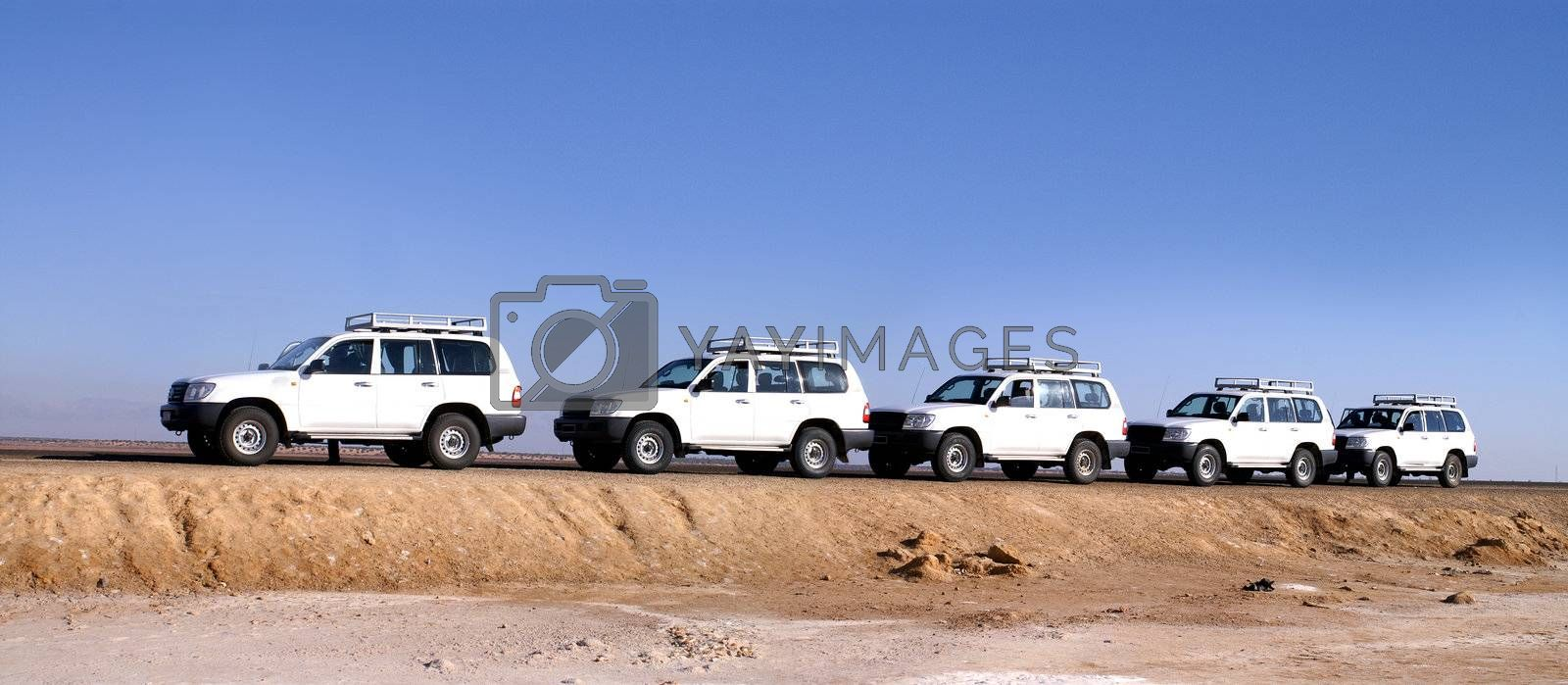 travel by jeep over by desert africa