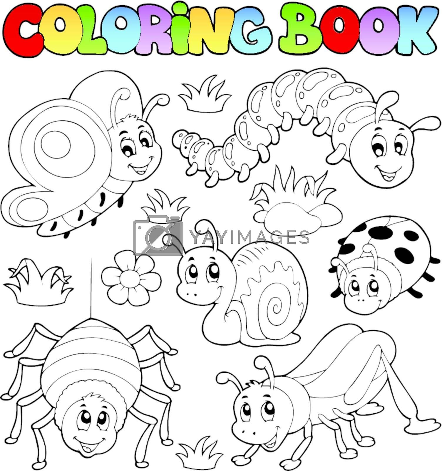 Coloring book cute bugs 1 by clairev