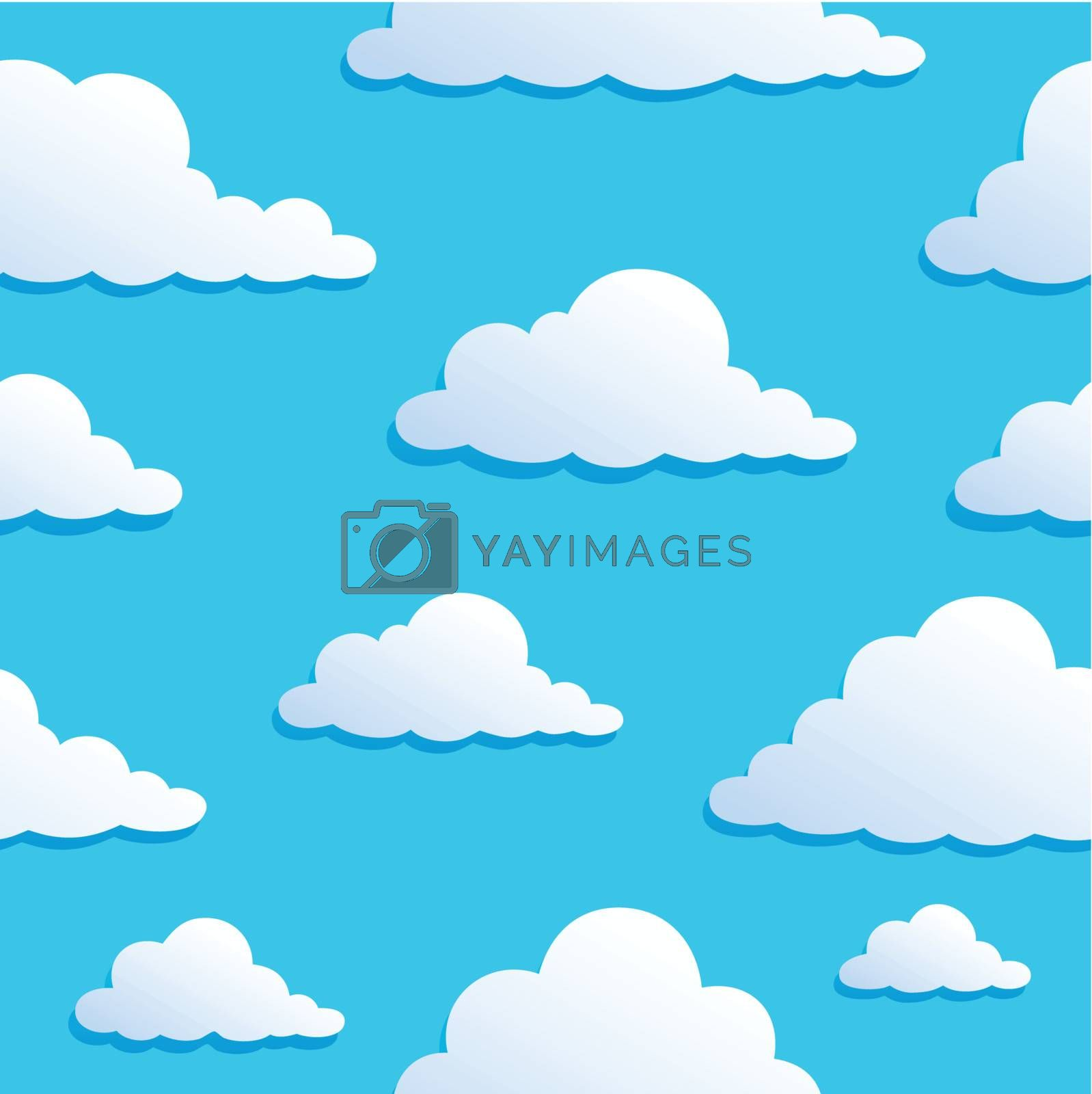 Seamless background with clouds 8 - vector illustration.