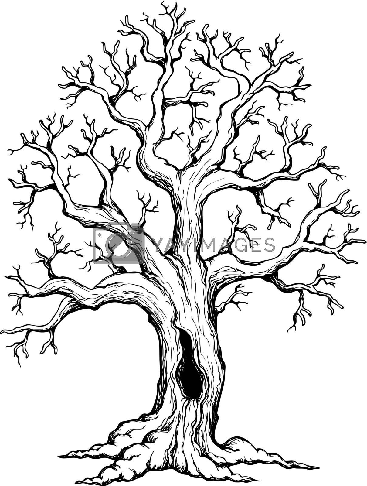 Tree theme drawing 1 by clairev