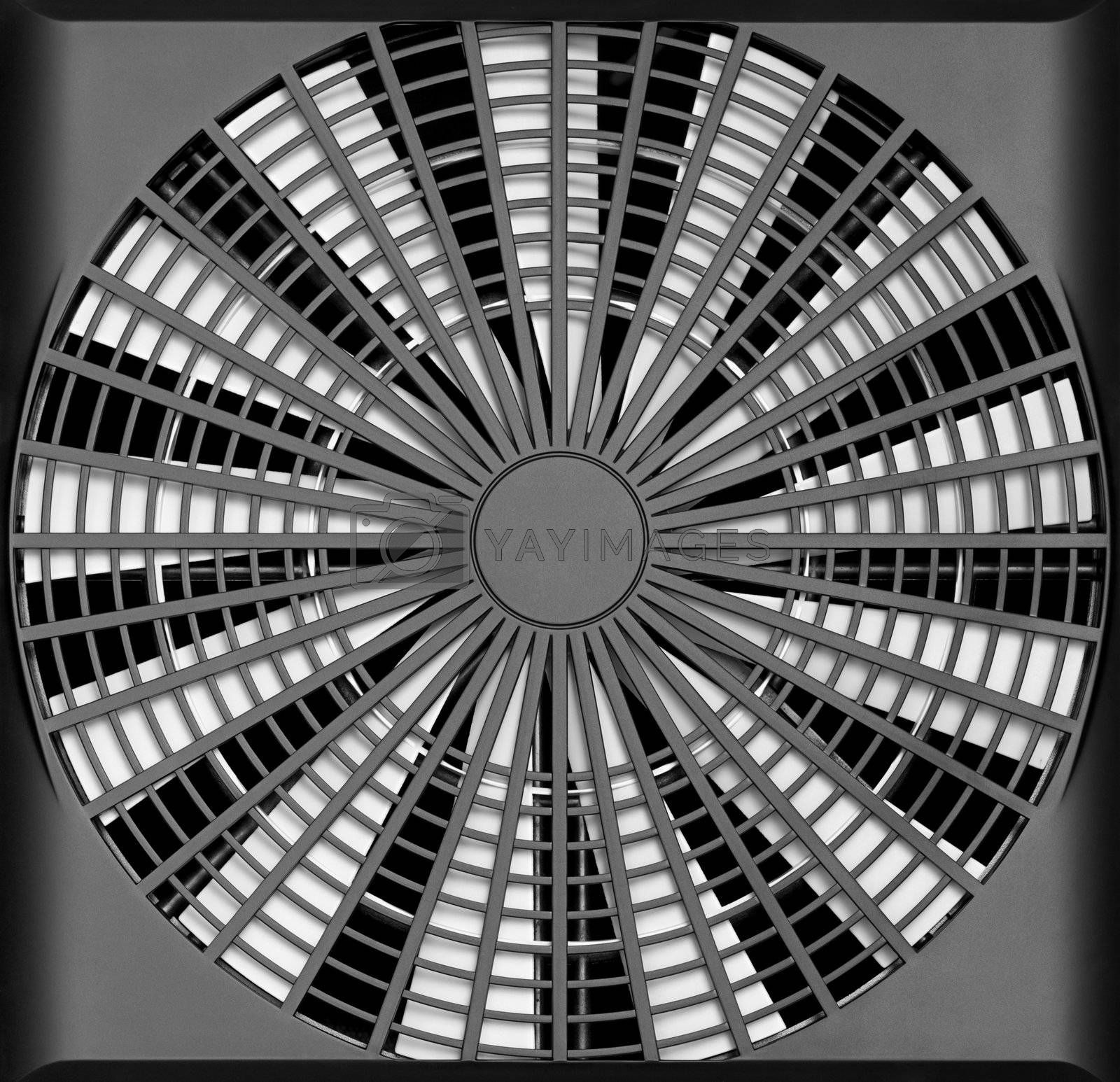 An industrial ventilation fan - turbine air-compressor