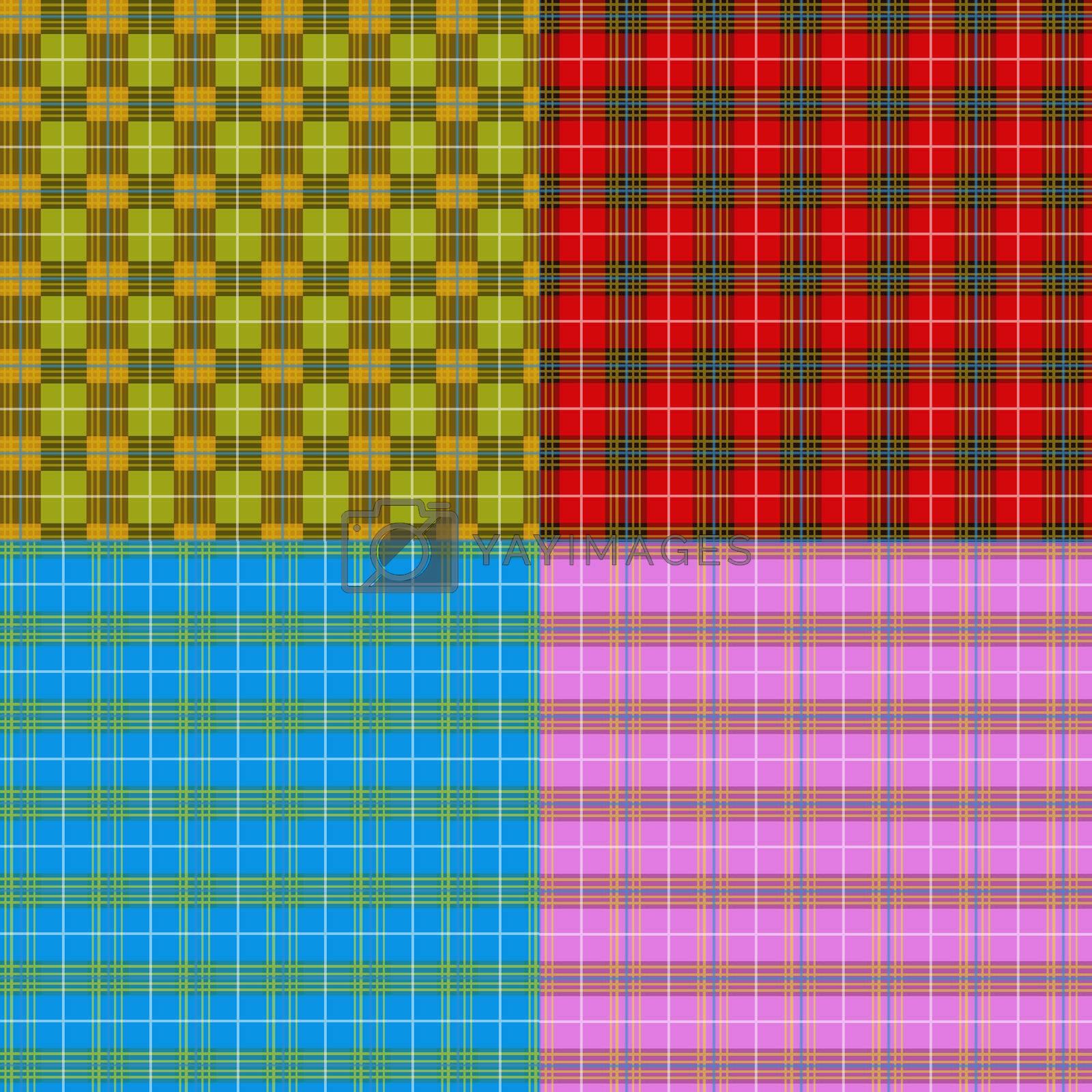 pink plaid pattern by witthaya