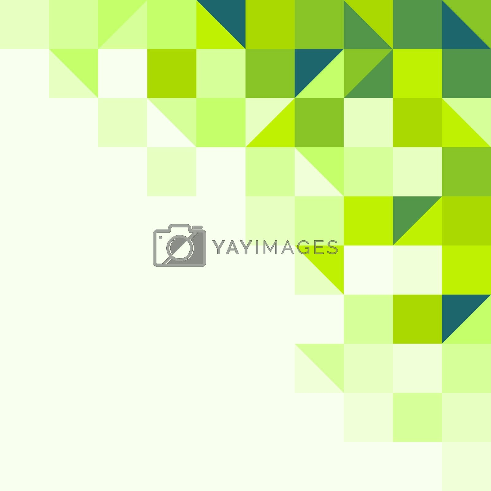 Background structure from geometric shapes in one tone