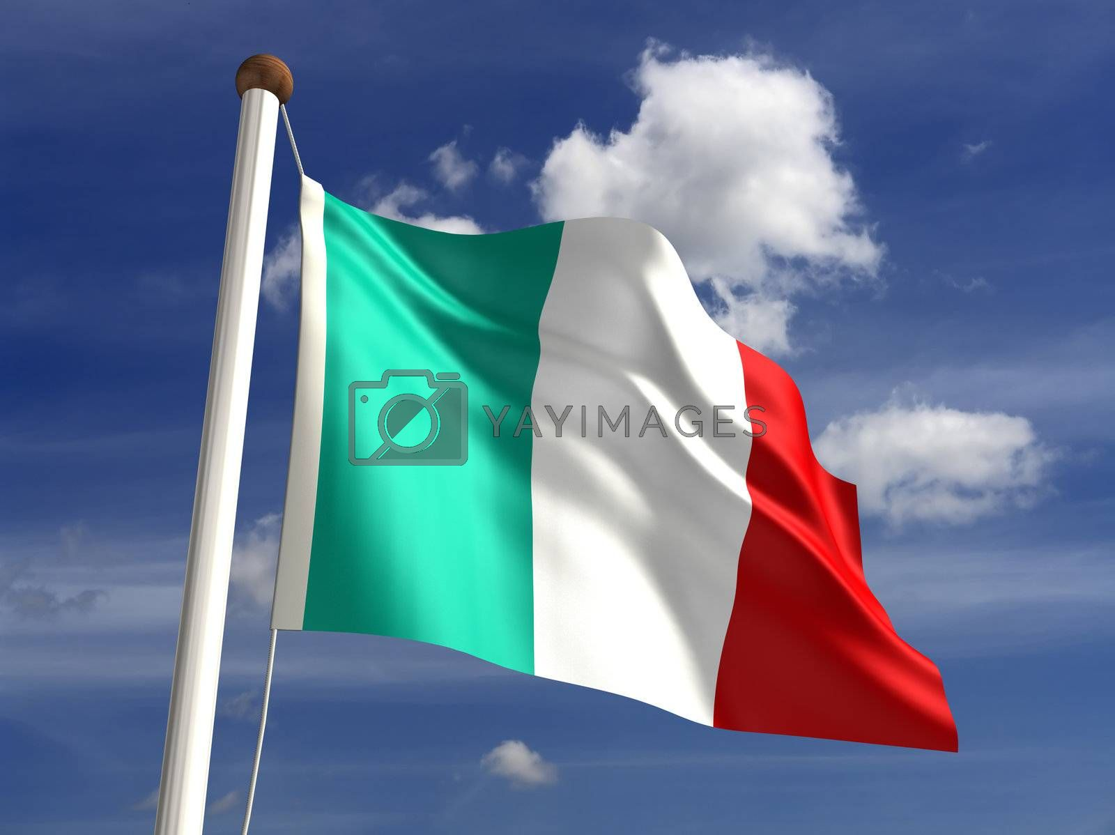 3D Italy flag (with clipping path)