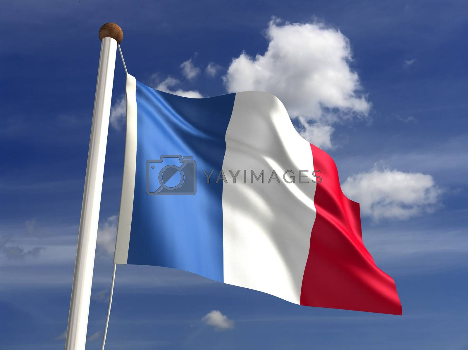 3D France flag (with clipping path)