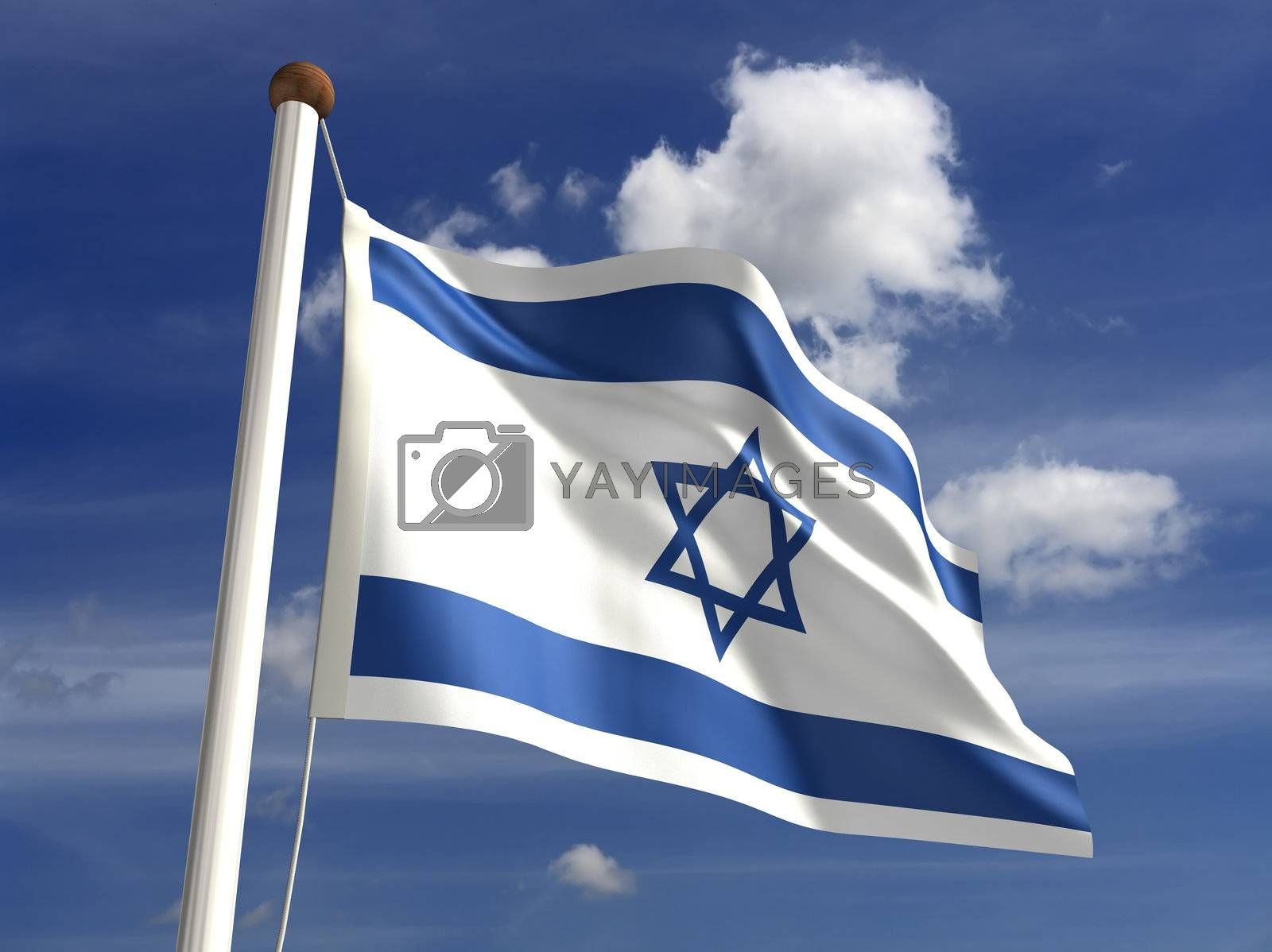3D Israel flag (with clipping path)