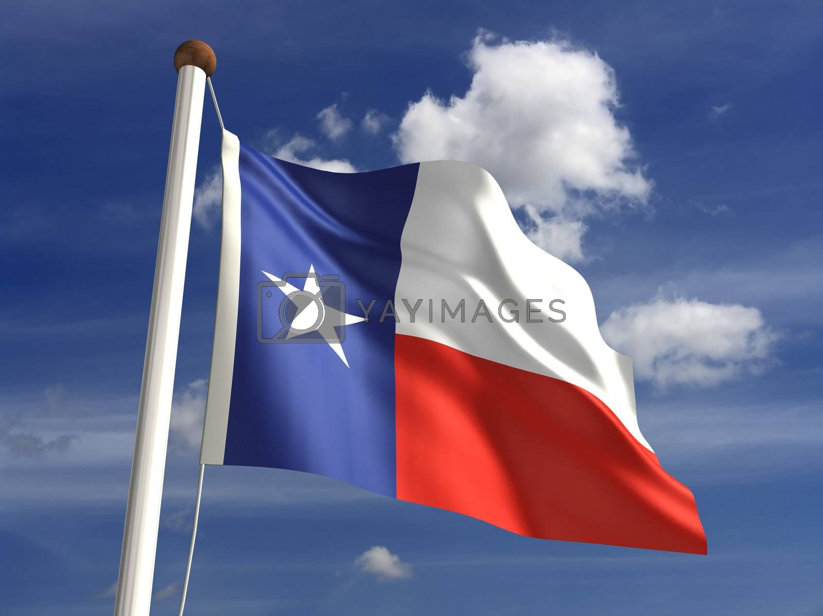3D Texas flag (with clipping path)