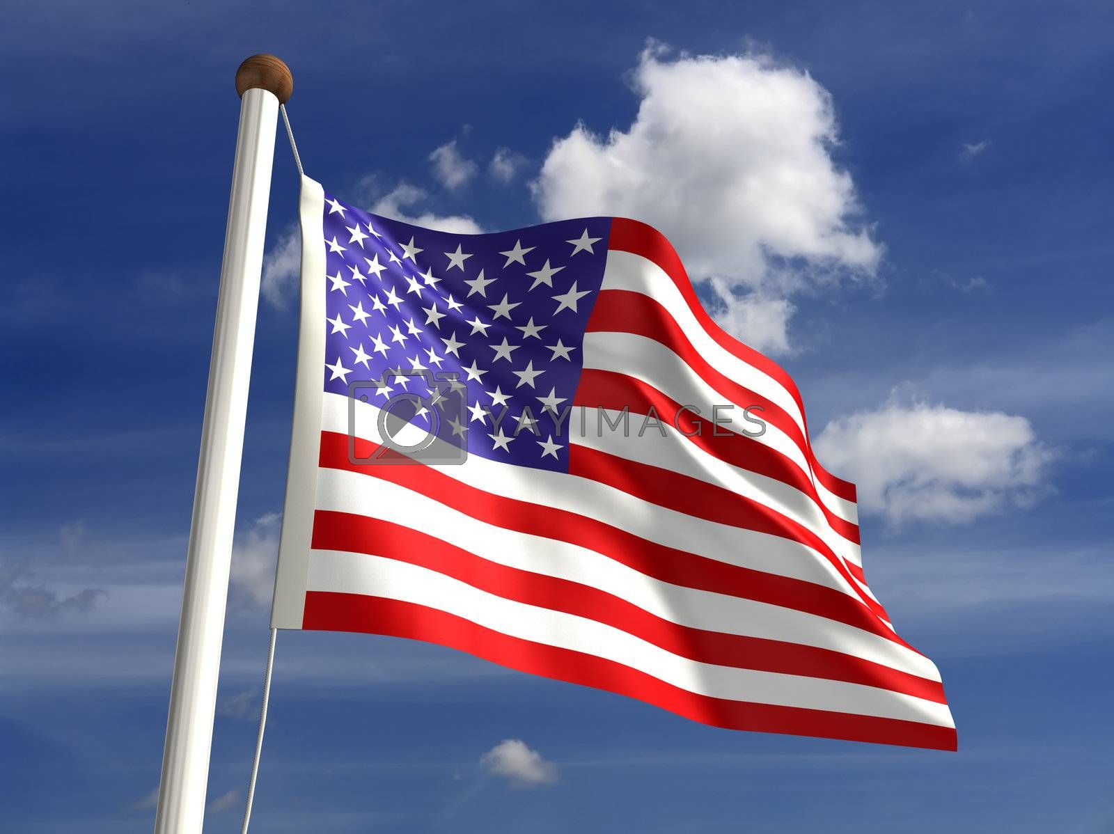 3D USA flag (with clipping path)