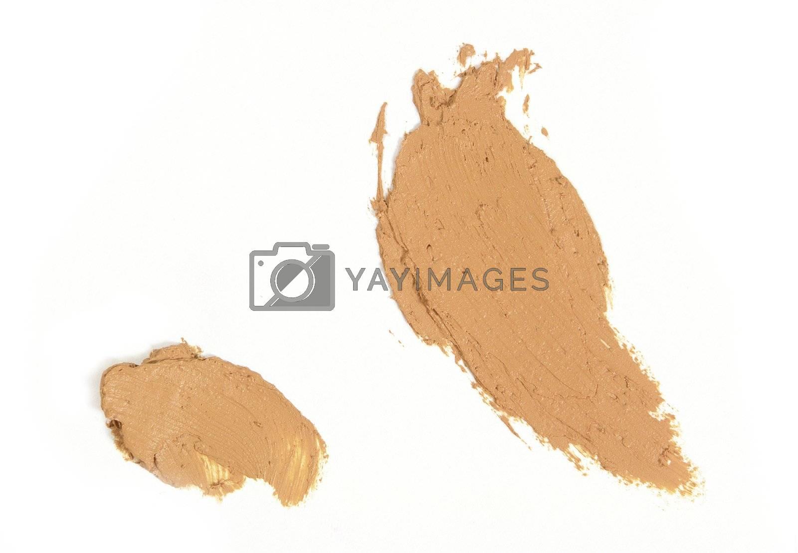 Cream Compact powder sample for fashion magazine
