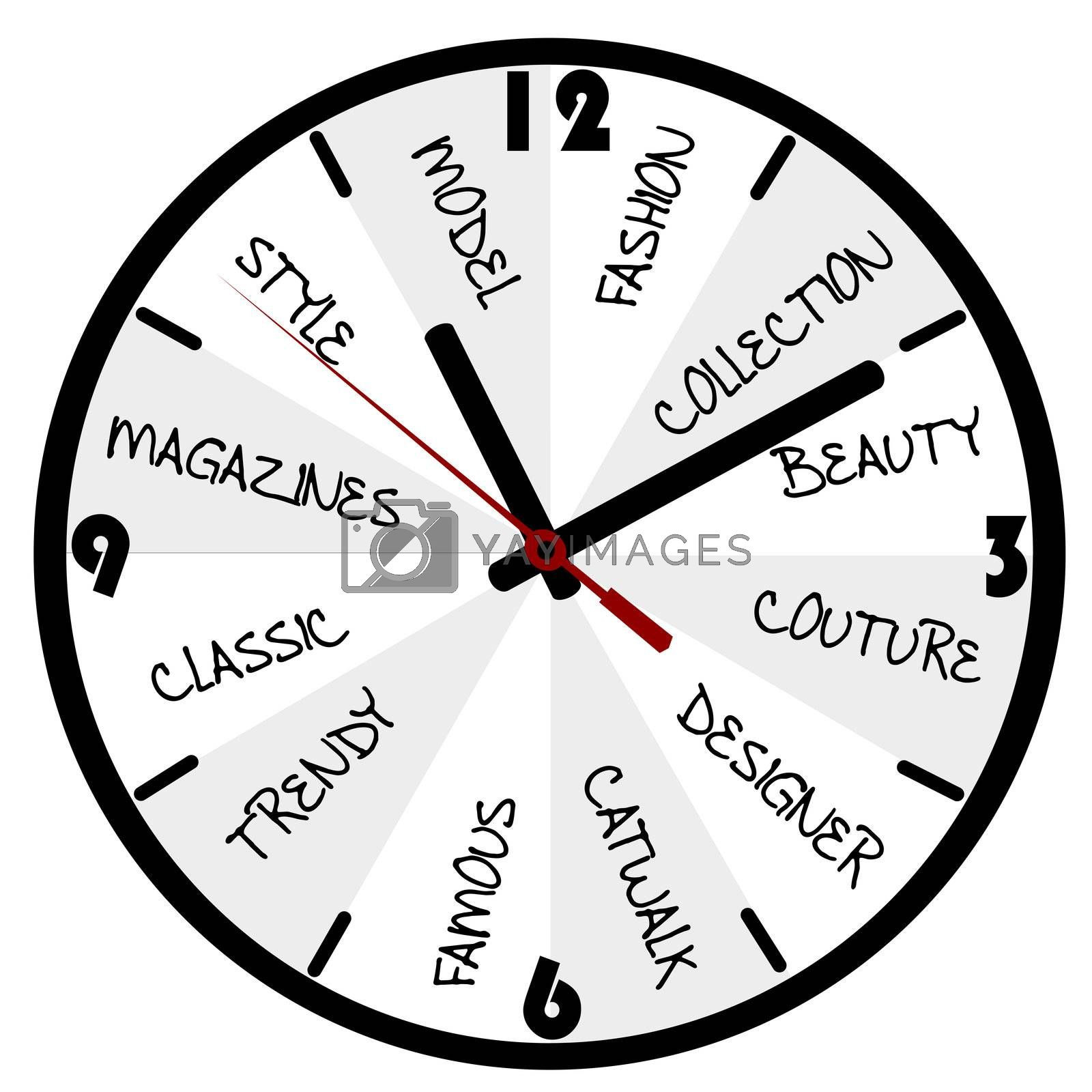 Fashion concept with clock