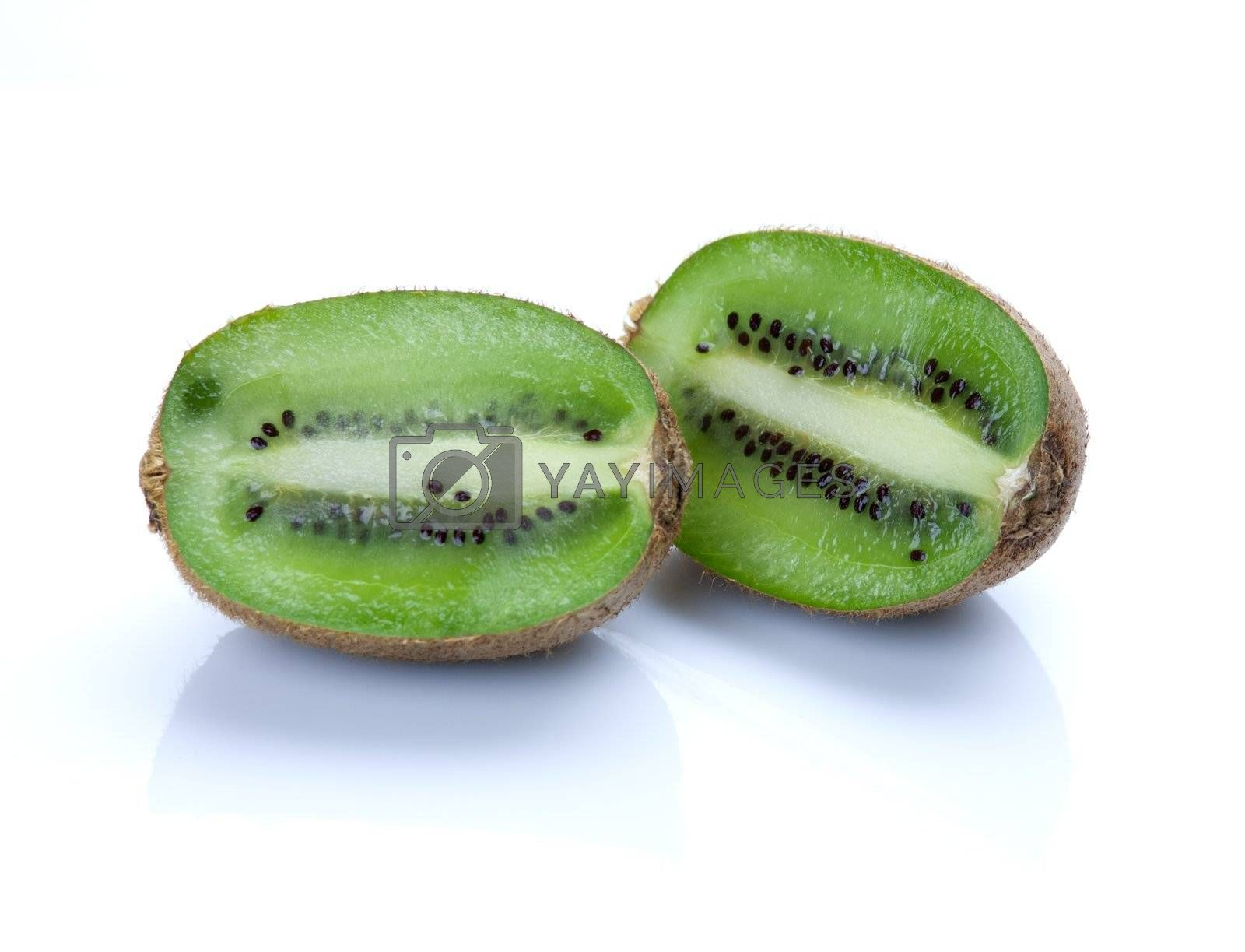 Royalty free image of Kiwi fruit isolated on white background by sfinks