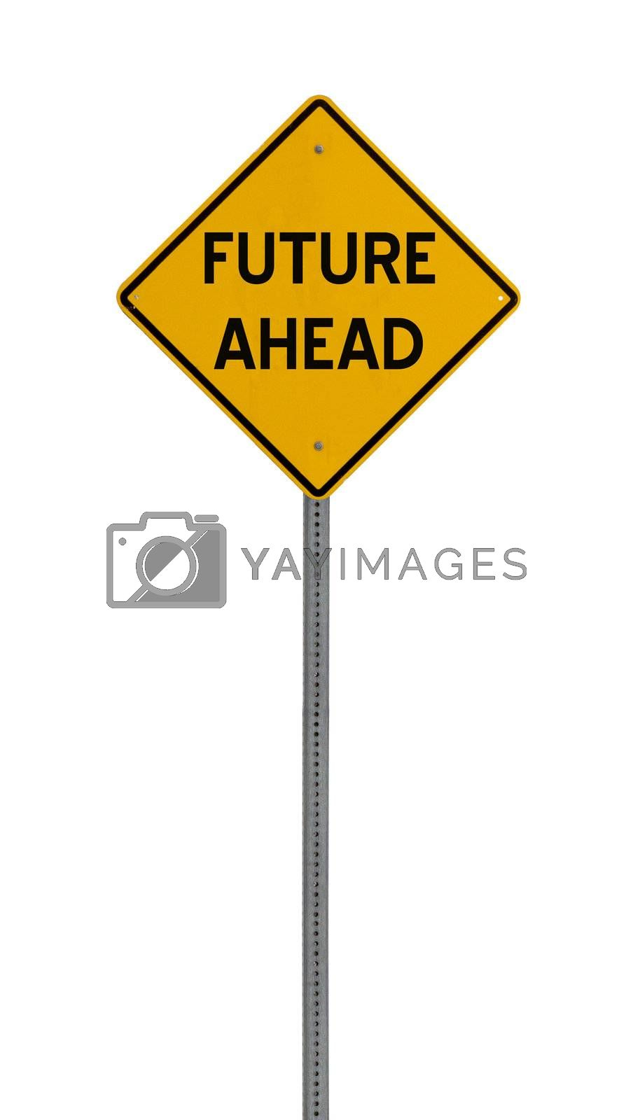 a yellow road sign with a white background for you to use in your design or presentaion.