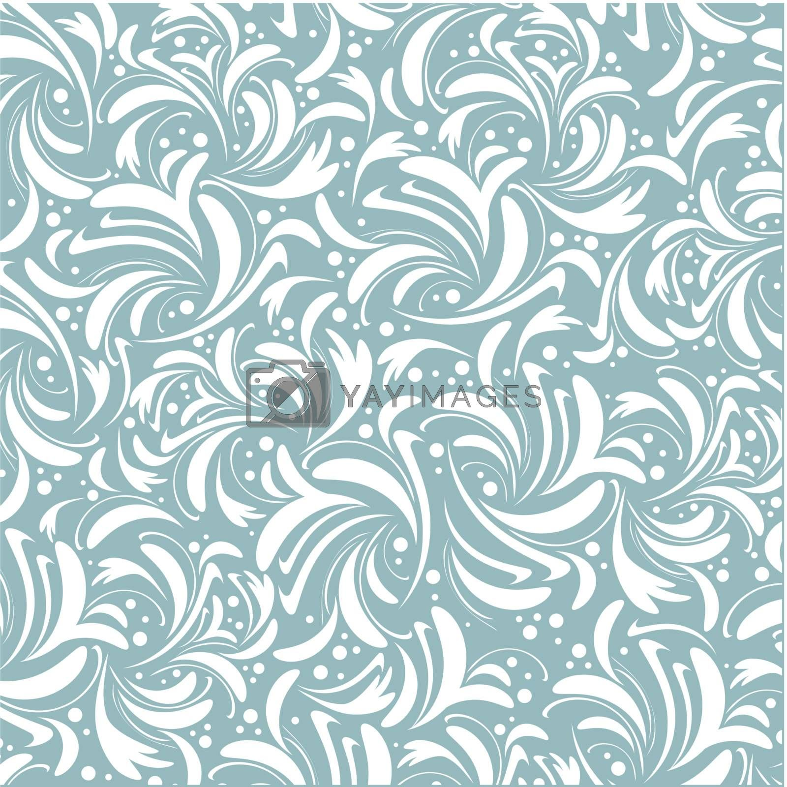 abstract floral background in two tones