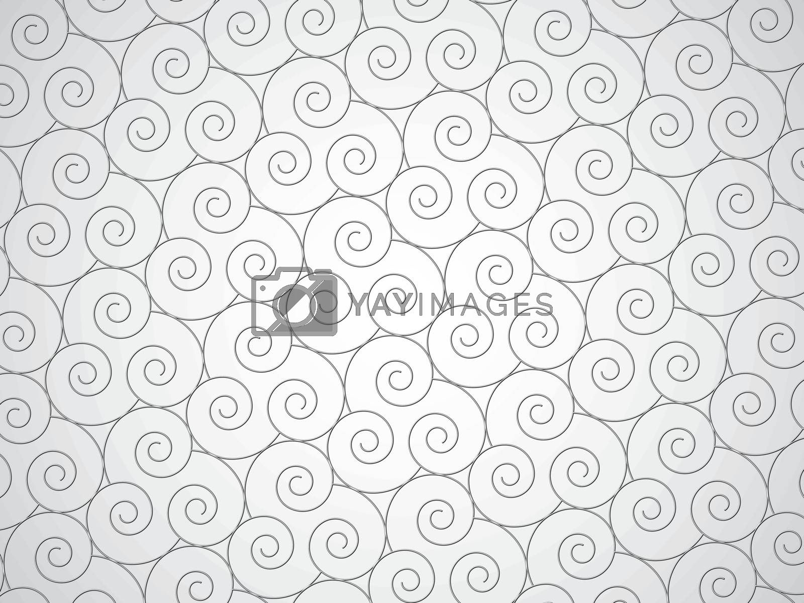 Vector abstract monochrome texture - spirals