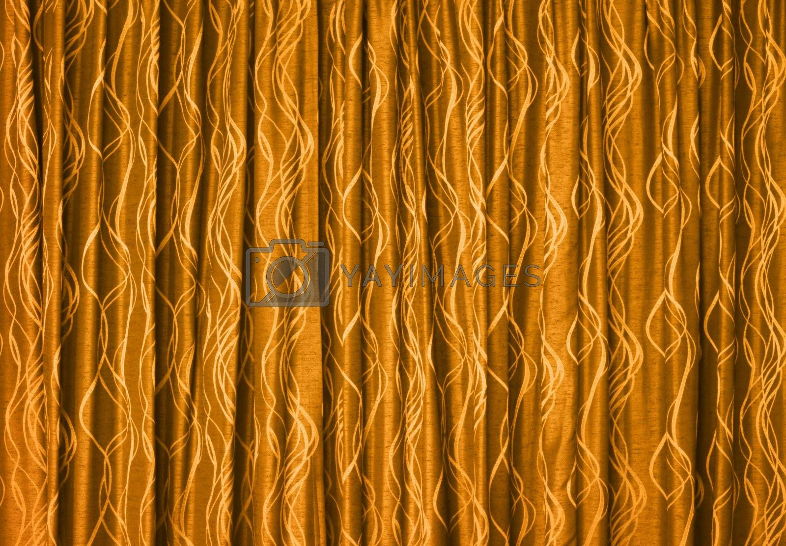 The yellow drapes - Textile background