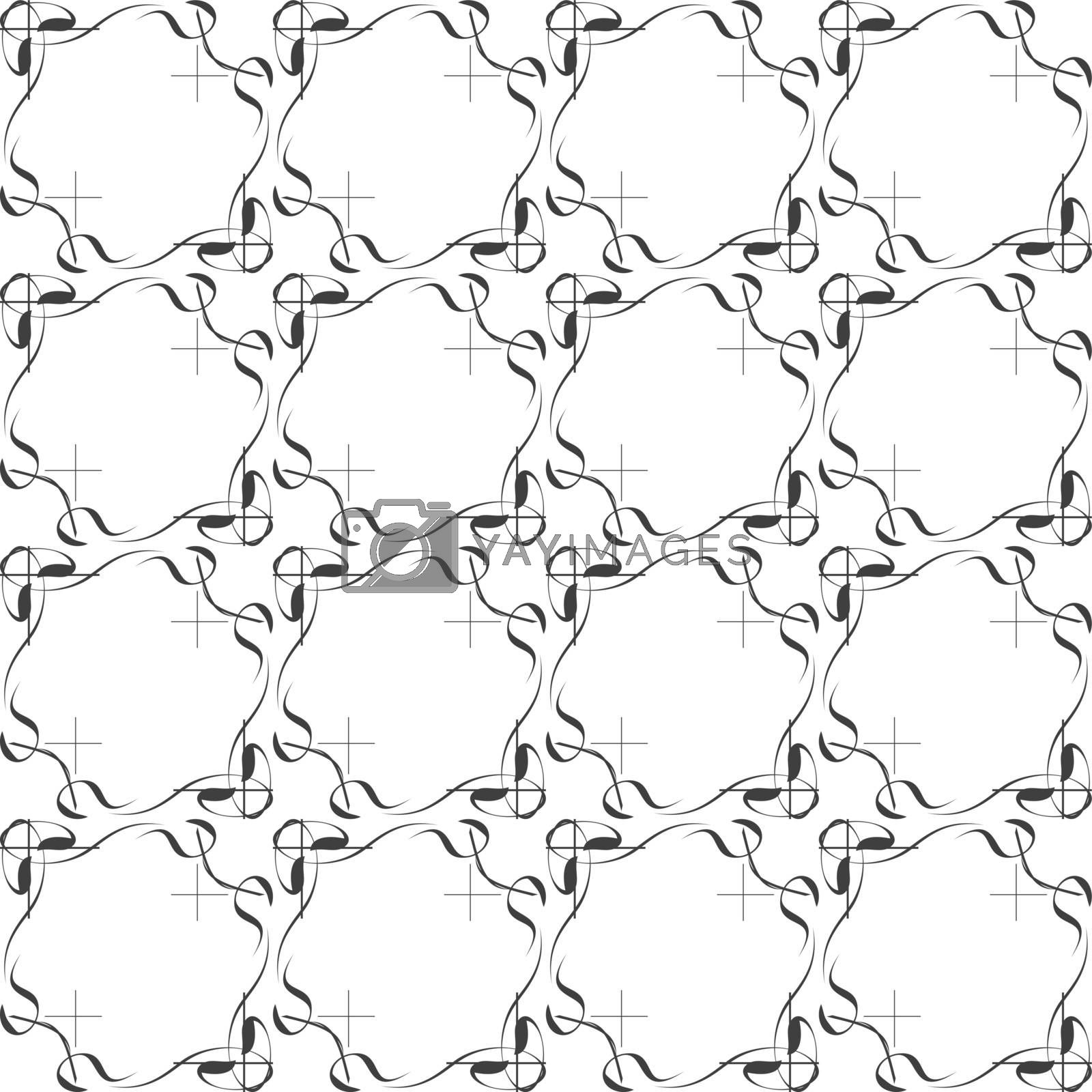 seamless ethnic doodle monochrome vector pattern background