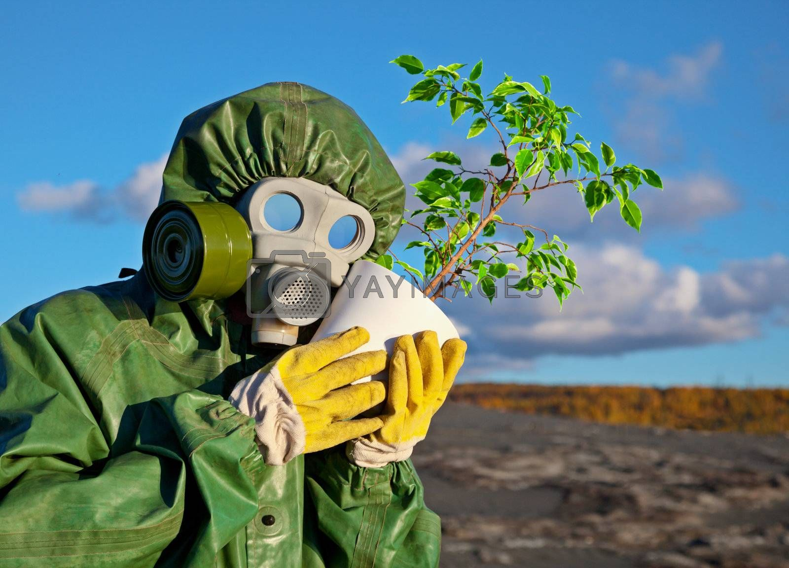 The biologists embrace genetically modified plant
