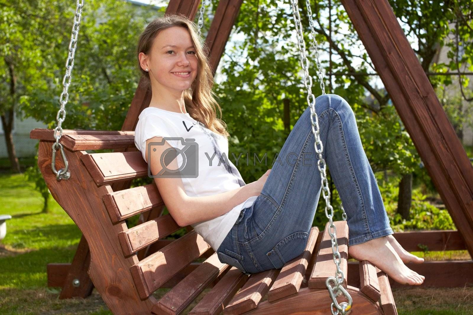 Teenage Girl Relaxing by Nikonas