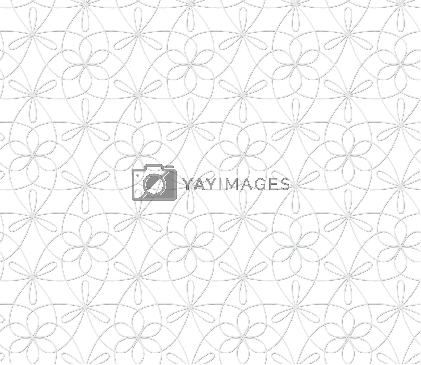Monochrome abstract background - silver curlicues