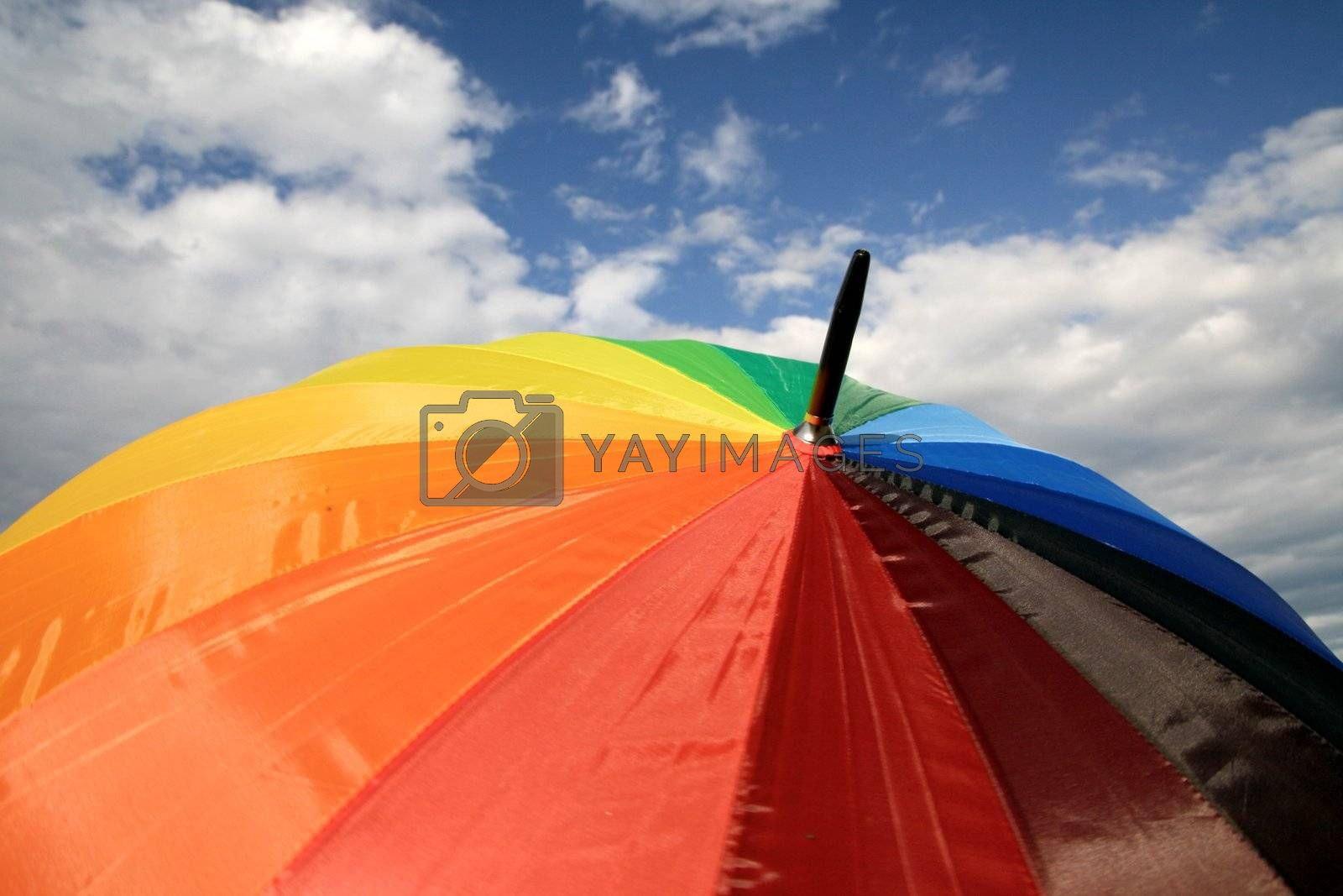 umbrella on sky weather colorful background