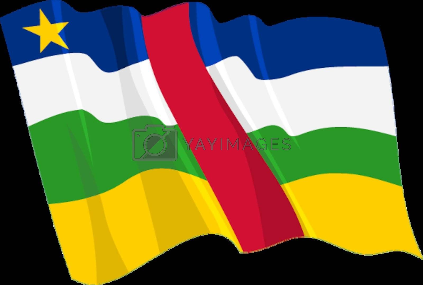 Political waving flag of Central African Republic