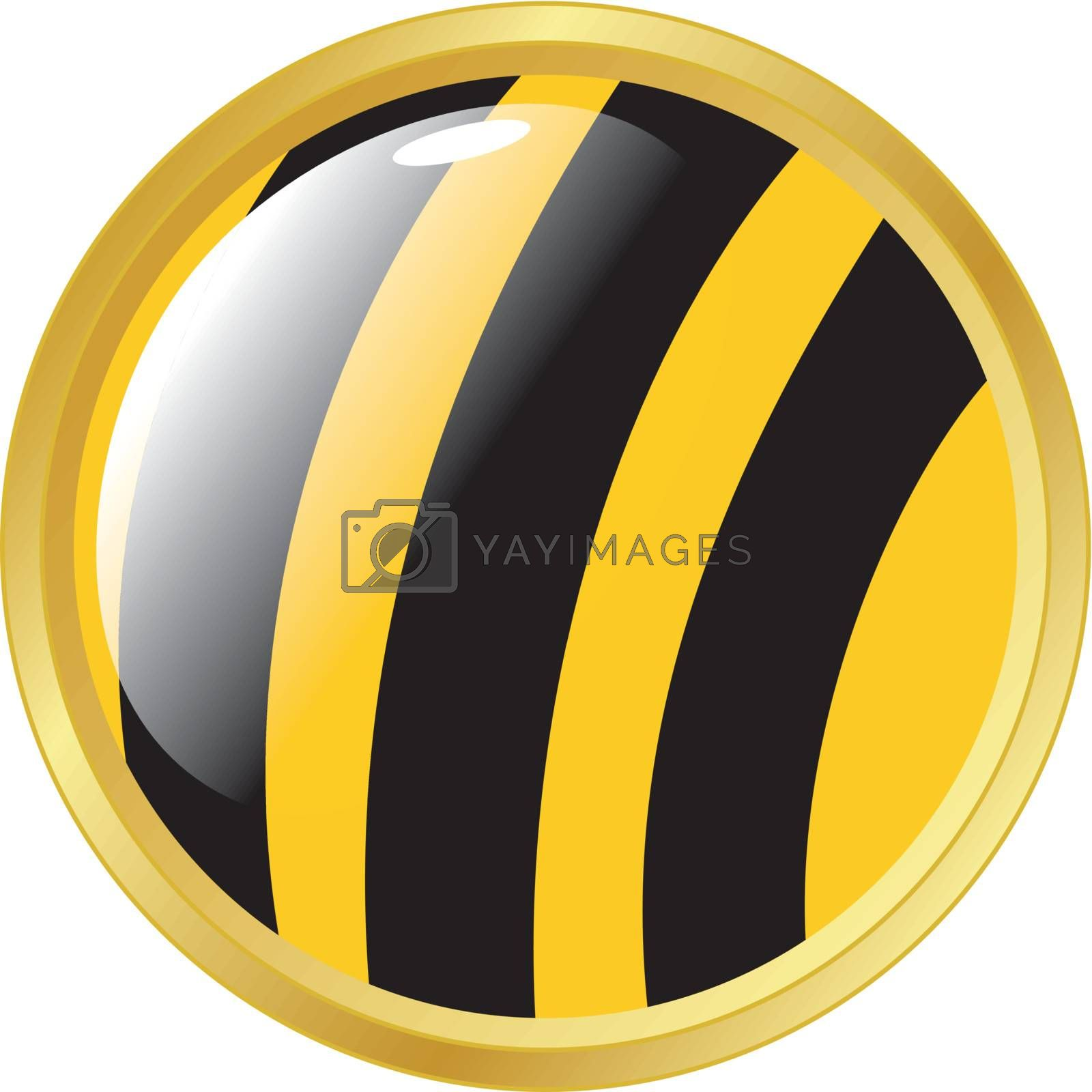Button in colors of bee