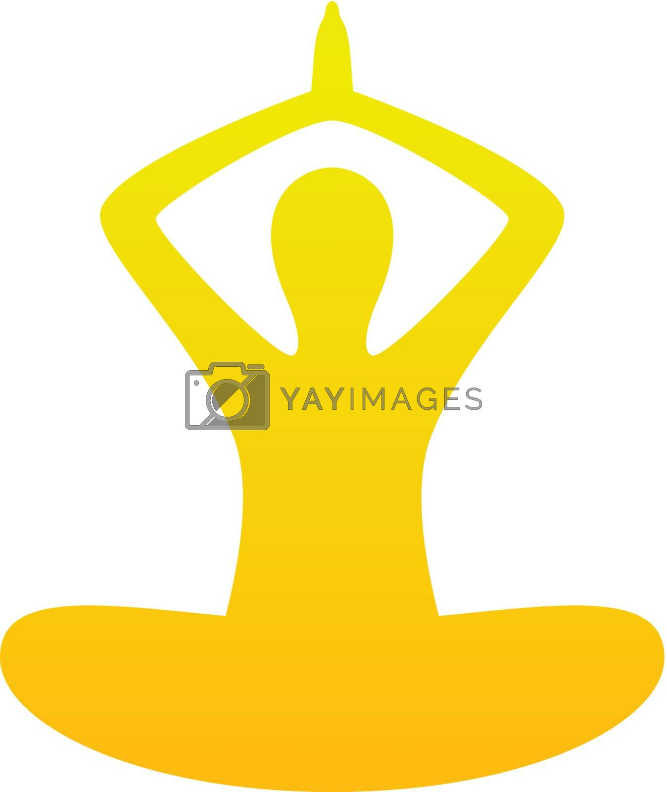 Simple yoga vector silhouette