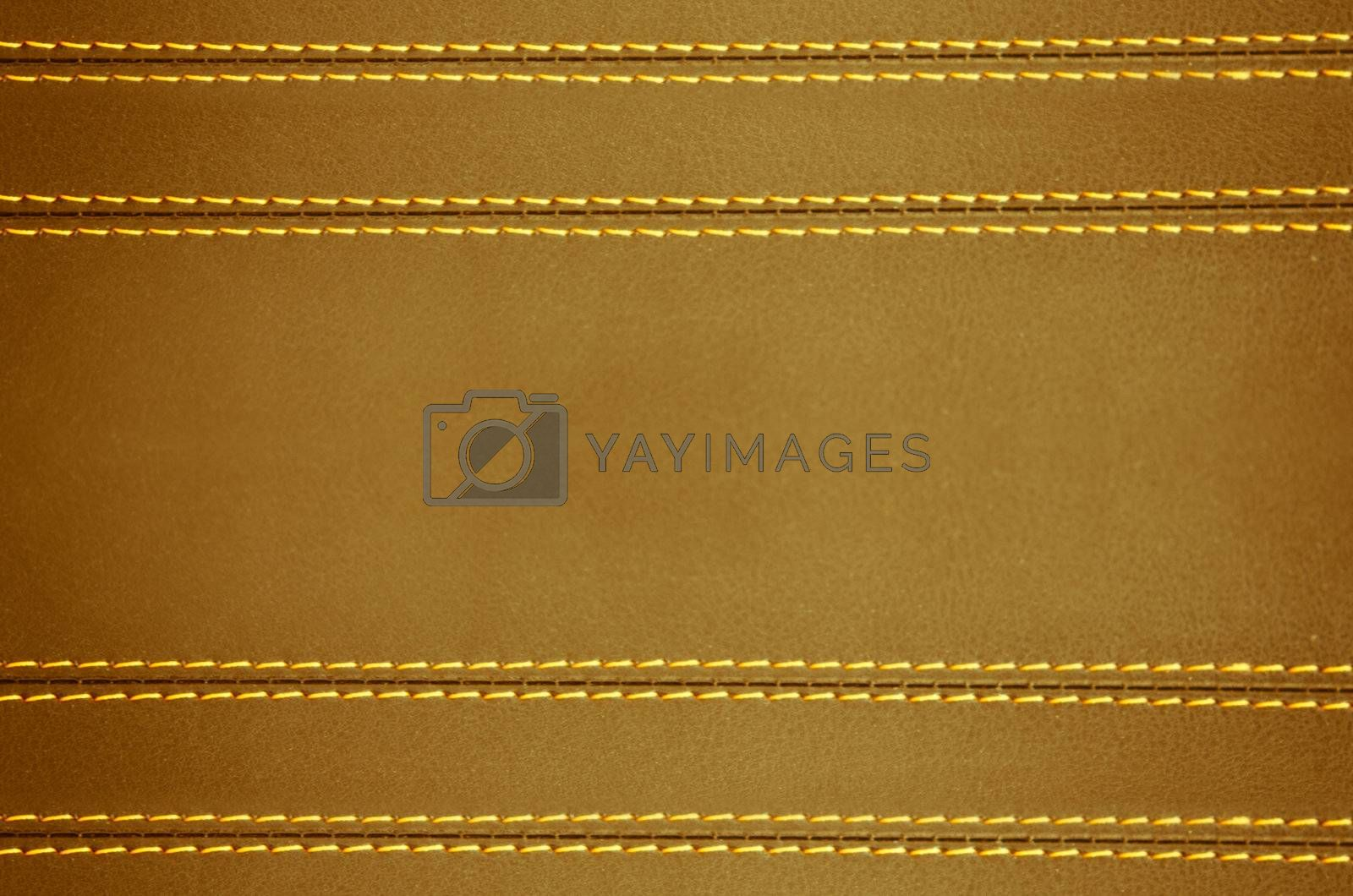 brown  horizontal stitched leather background  , art wallpaper