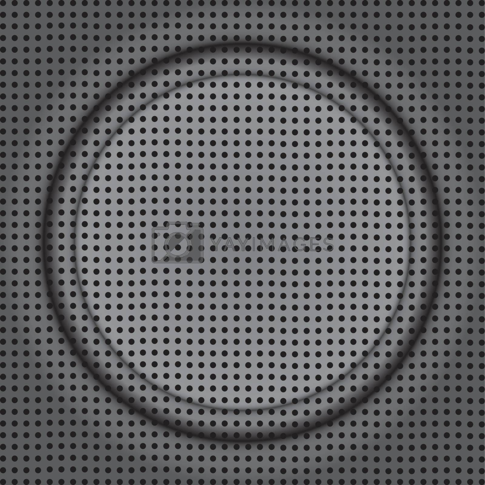 fine abstract image of rounded frame on modern speaker texture
