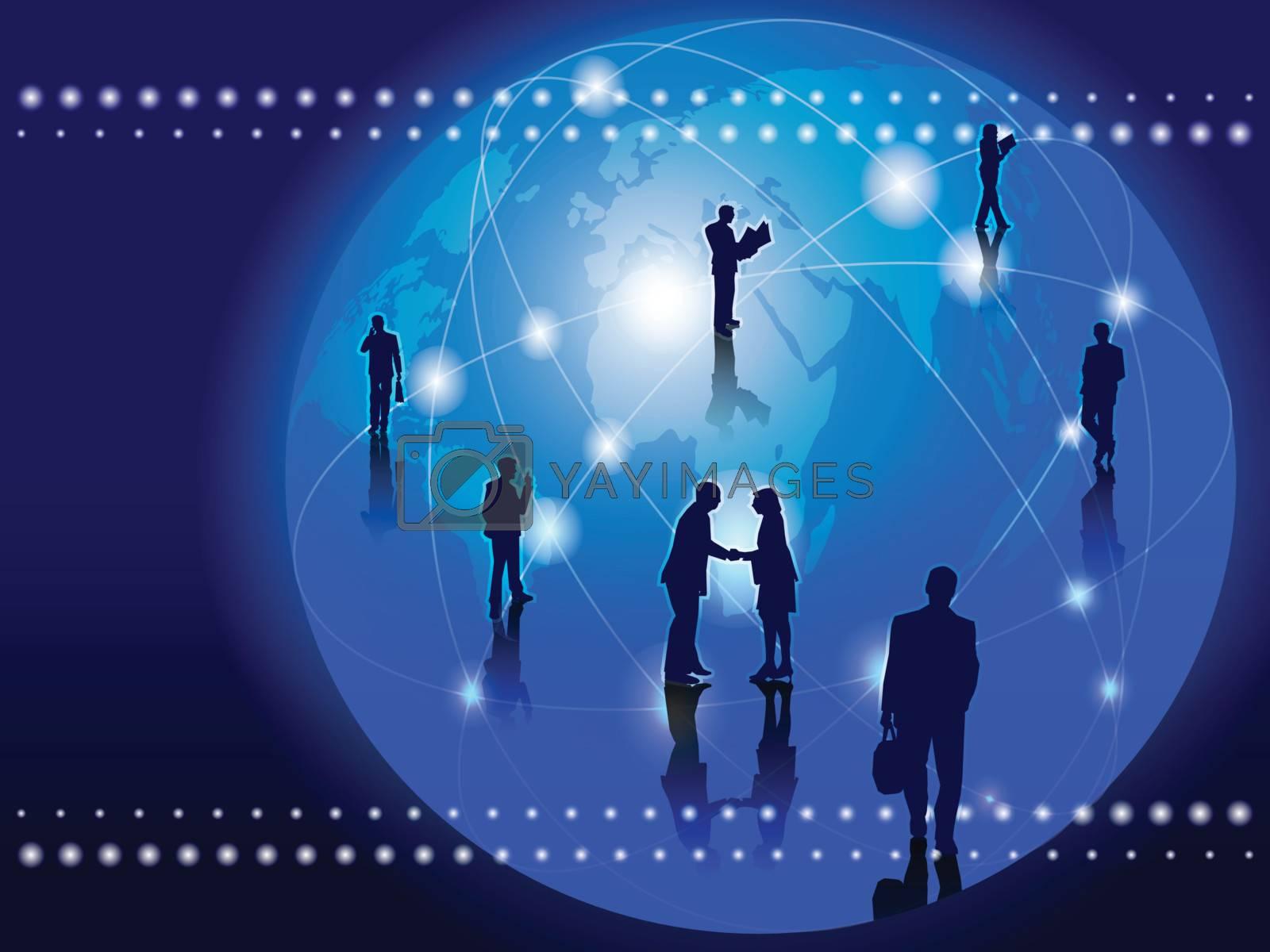 World Wide Business Communication background