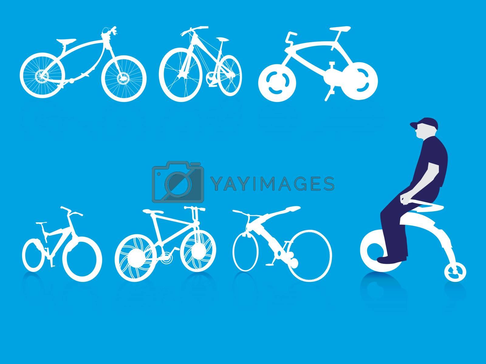 Riding Modern Bike Background