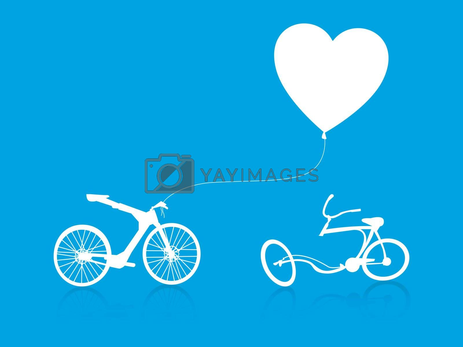 Royalty free image of love modern bike background by nirots