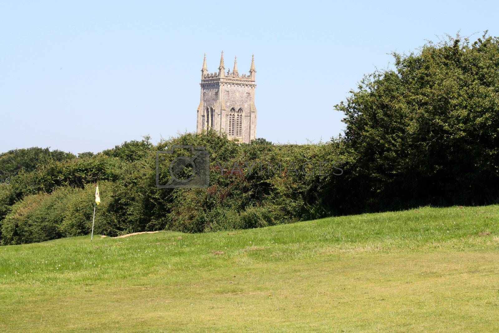 church by the golf course