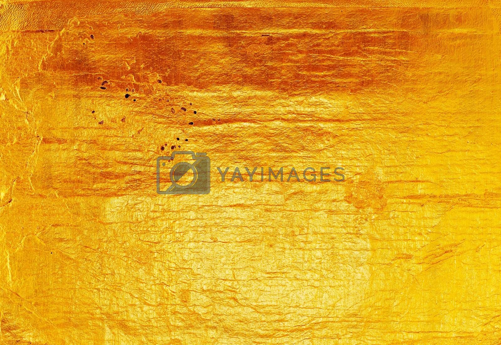 Royalty free image of Luxury golden texture.Hi res background. by POMACHKA