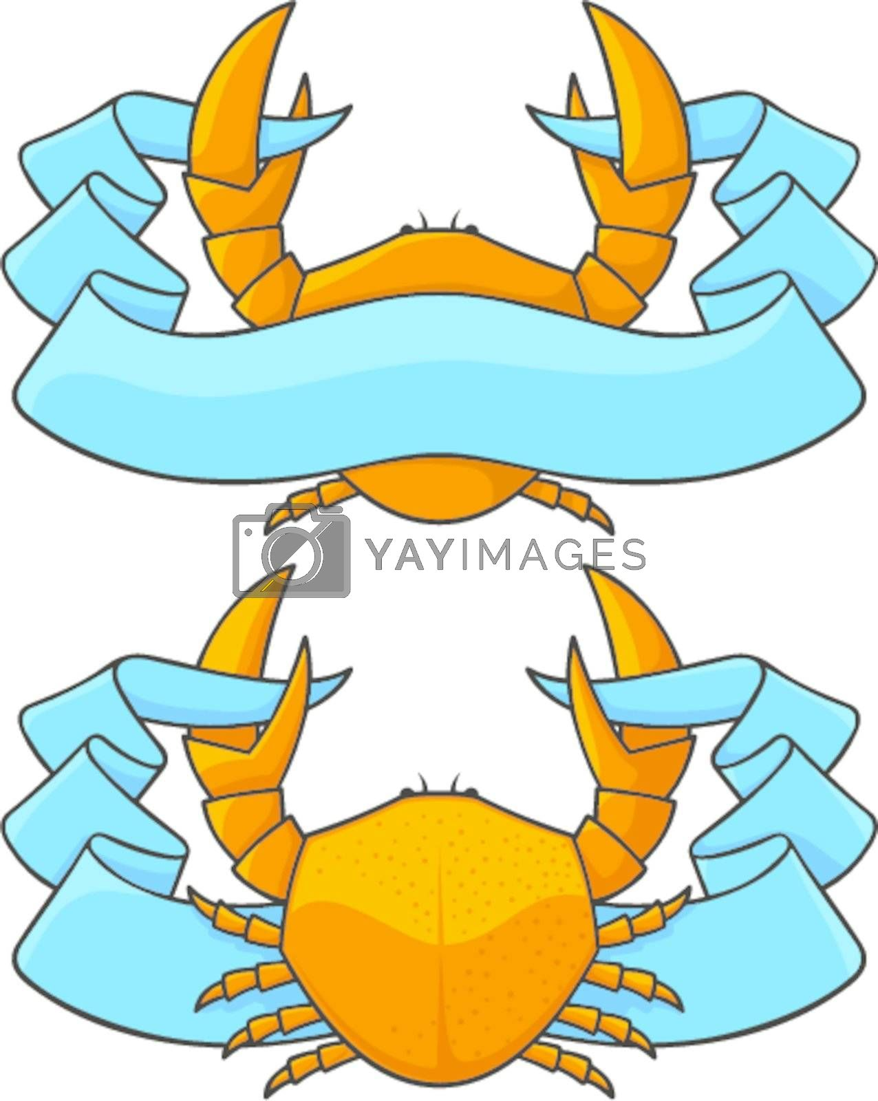 Crab with banner by sifis