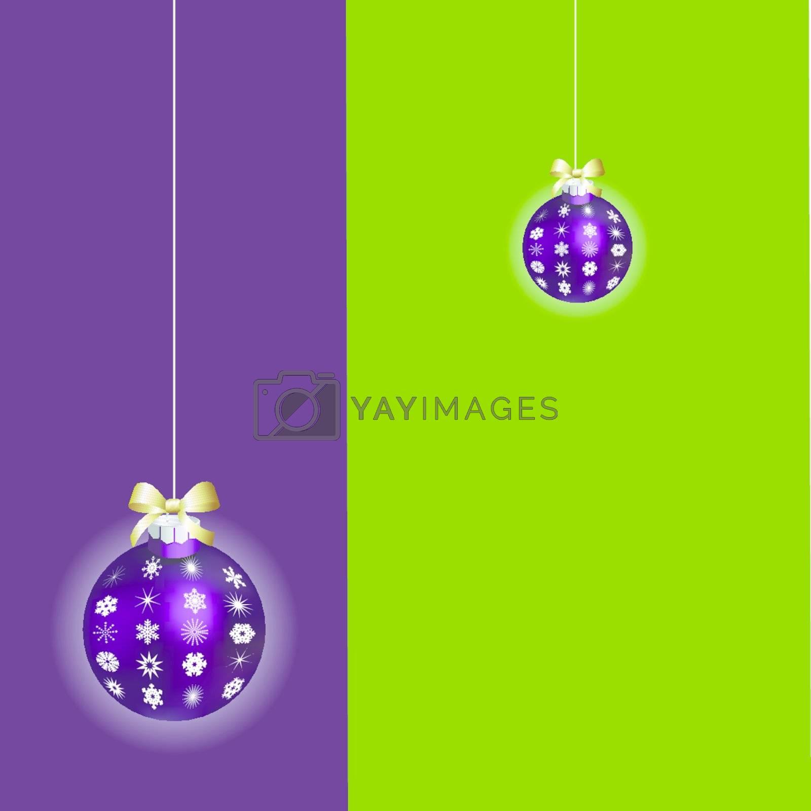 Christmas ball ornaments Christmas card greeting by nirots