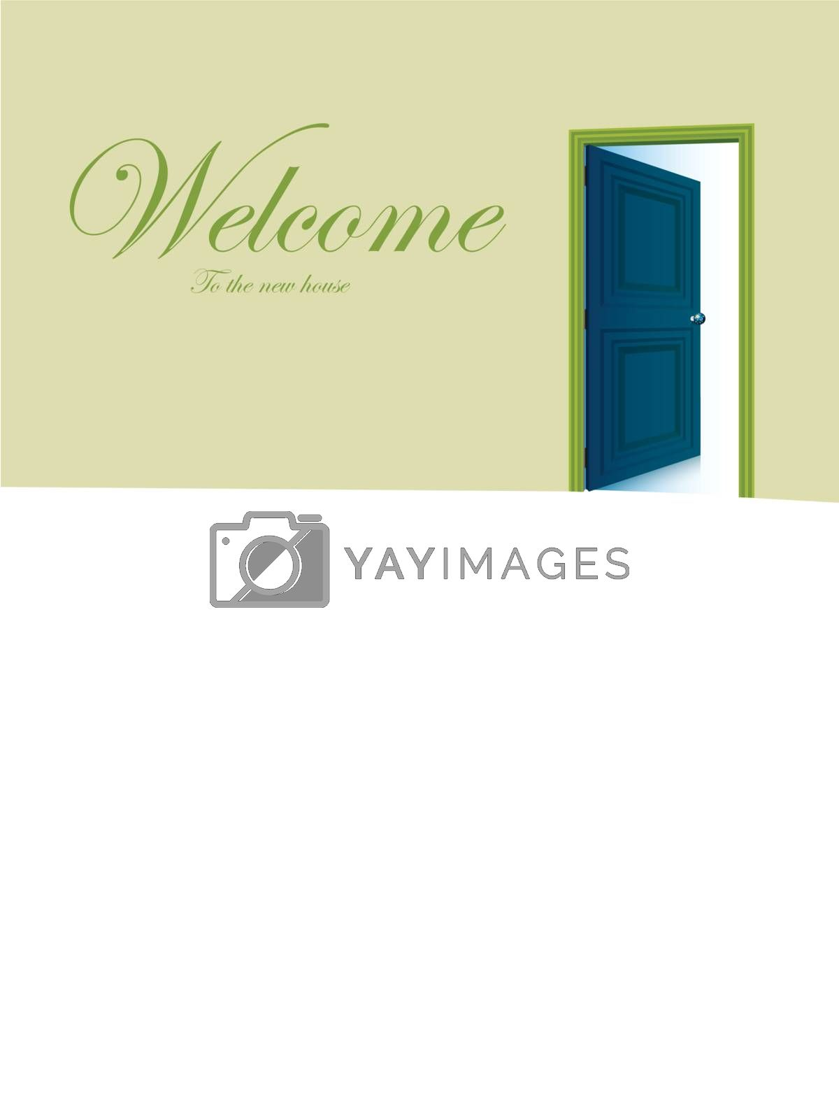 Royalty free image of Opened door vector with copy space by nirots