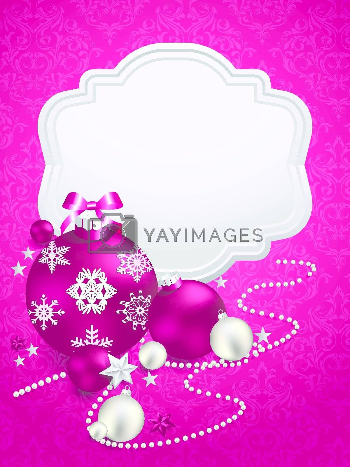 Royalty free image of Beautiful christmas background with place for text. Vector illustration by nirots
