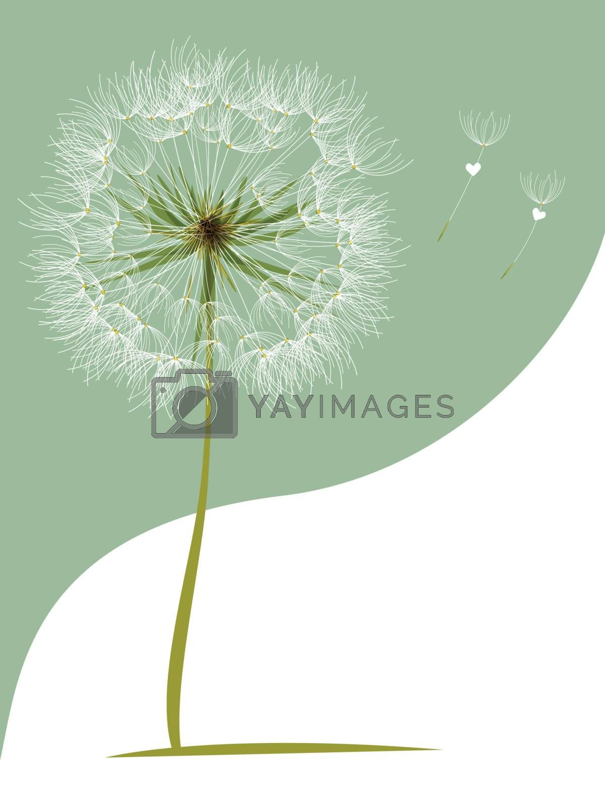 Royalty free image of vector Dandelion Wind Blow Flower by nirots